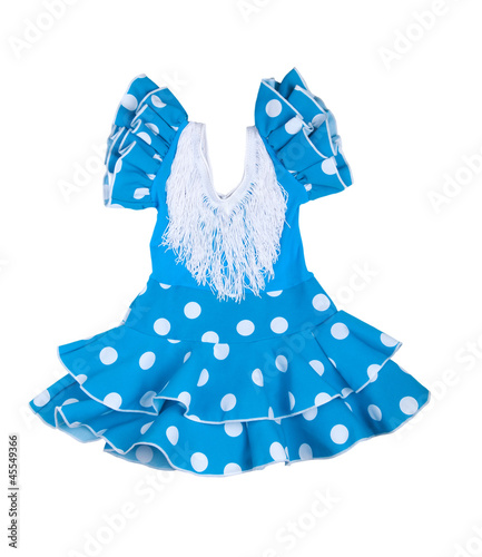 Baby blue dress with polka dots
