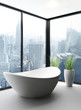 Exclusive Luxury Bathroom Interior in a Penthouse