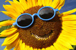 canvas print picture - Sunflower with a smile