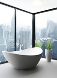 Exclusive Luxury Bathroom Interior in a Penthouse poster