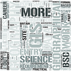 Geography with GeographicalInformationScience Word Cloud Concept