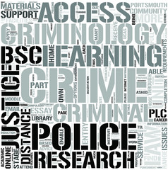Crime and Criminology Word Cloud Concept