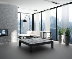Exclusive Luxury Penthouse Interior | Loft