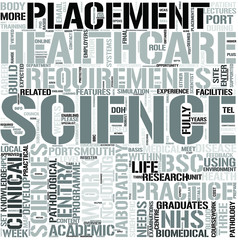 HealthcareScience Word Cloud Concept
