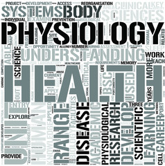 HumanPhysiology Word Cloud Concept
