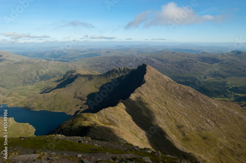 View from Snowdon summit in North Wales