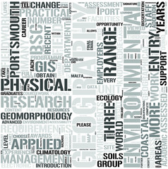 Physical Geography Word Cloud Concept