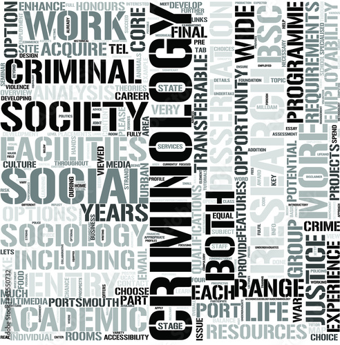 Sociology and Criminology Word Cloud Concept