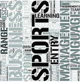 Sports Business Management Word Cloud Concept