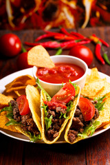 plate with taco
