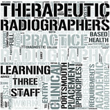 Therapeutic Radiography Word Cloud Concept poster