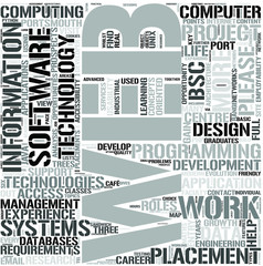 Web Technologies Word Cloud Concept