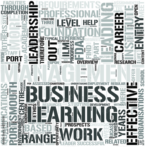 Leadership and Management Word Cloud Concept