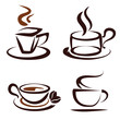 vector set of coffee cups icons