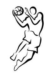 basketball player in jump