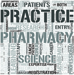 Pharmacy Word Cloud Concept
