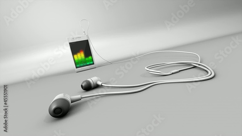 Concept animation, media player device.