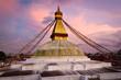 Boudhanath (Boudnath) Stupa in the Kathmandu, Nepal