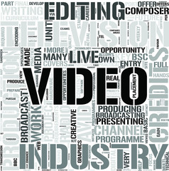 Television and Broadcasting Word Cloud Concept