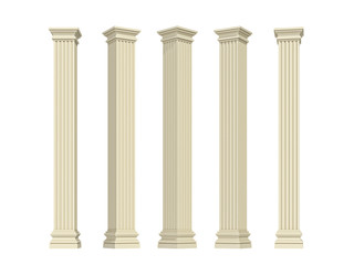 columns on a white background