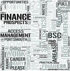 Mathematics For Finance Management Word Cloud Concept