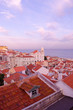 Lisbon, Alfama, softly violet sunset