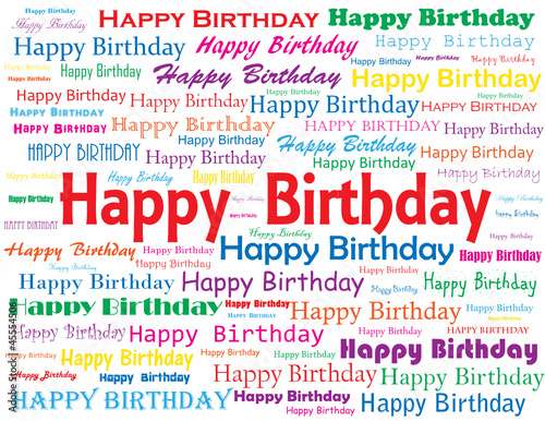"""HAPPY BIRTHDAY"" Tag Cloud (greetings card celebration party)"