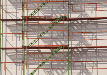 scaffolding construction background