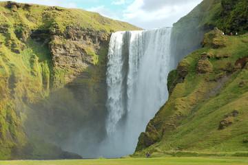 Skogafoss waterfall.