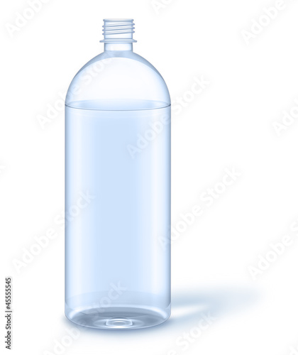 Illustrated Water Bottle with No Label