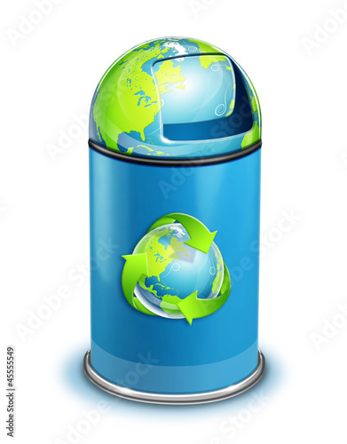 World ECO Recycle Trash Can