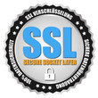 "Button ""SSL Security"" Grau/Schwarz/Silber"