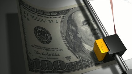 Artist impression, money printing animation.
