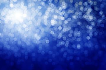Blue defocused lights. Winter background