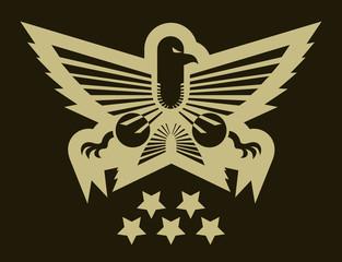 Military eagle emblem