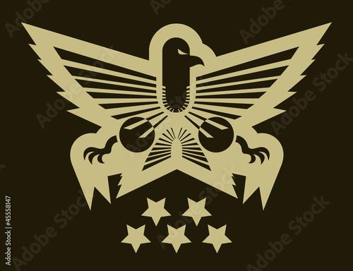 Military eagle emblem by RATOCA, Royalty free vectors ...