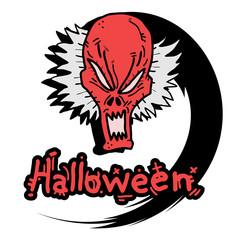 Demon halloween stick