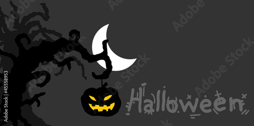 Shadow halloween background