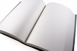Libro abierto en blanco