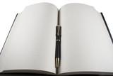 Libro y bolígrafo