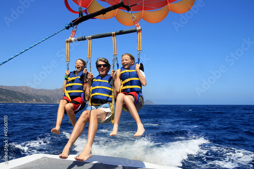 Happy Family Parasailing - 45560110