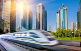 train through city
