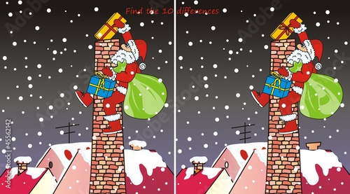 Santa Claus - chimney-10 differences