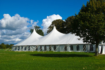 Large white party tent