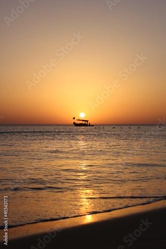 Fishing boat in dawn