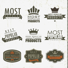 Most popular signs and labels