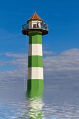 Turm im Wasser