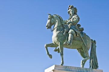 Statue équestre de Louis XIV - Place d'armes à Versailles