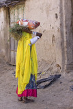 woman, traditional costume, Rajasthan, rural India