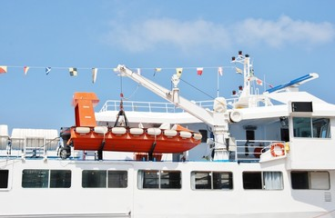 dispositivi di sicurezza di motonave,scialuppa di salvataggio